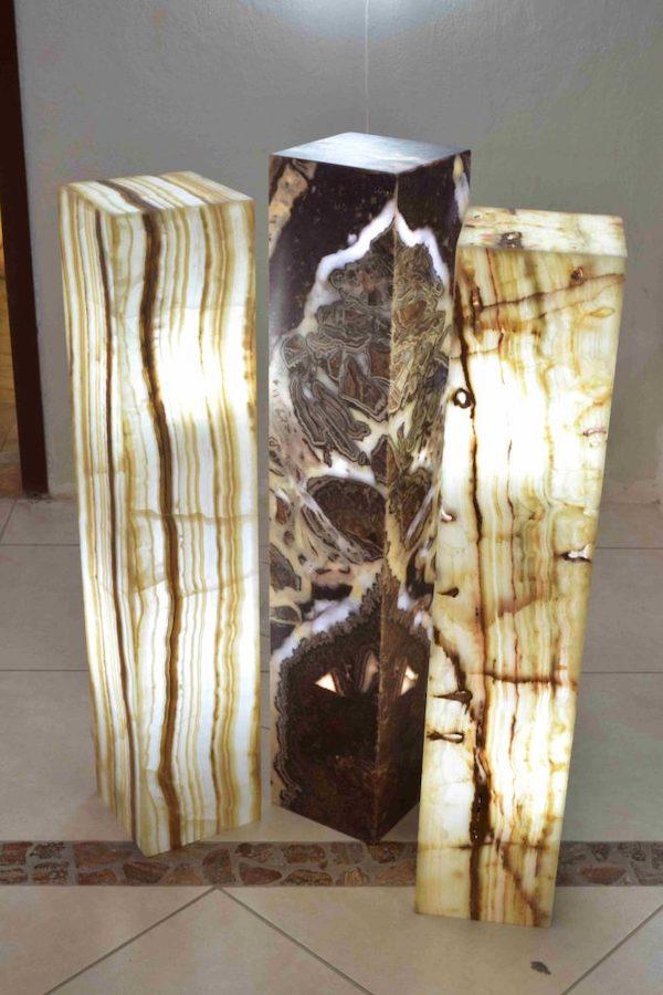 Onyx Marble Rectangular Floor Lamp 80 Cm X 20 Cm X 20 Cm Beta